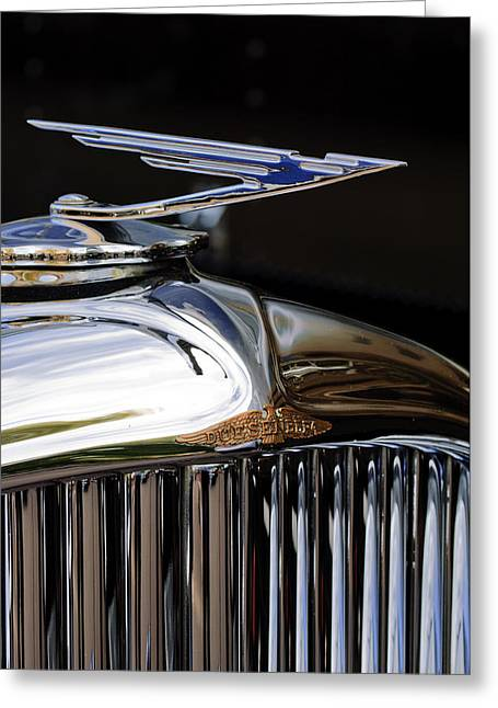 Car Mascot Greeting Cards - 1929 Duesenberg Model J Hood Ornament Greeting Card by Jill Reger