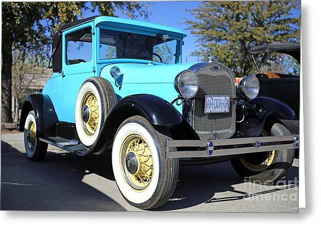 Eal Greeting Cards - 1929 Ford Model A Coupe Greeting Card by Blaine Nelson