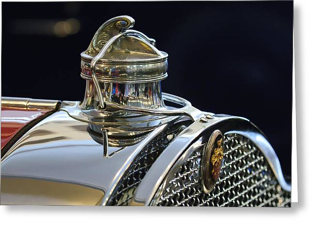 1929 Packard 8 Hood Ornament 3 Greeting Card by Jill Reger