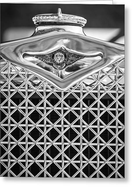 1930 Greeting Cards - 1930 Db Dodge Brothers Hood Ornament And Grille -085bw Greeting Card by Jill Reger