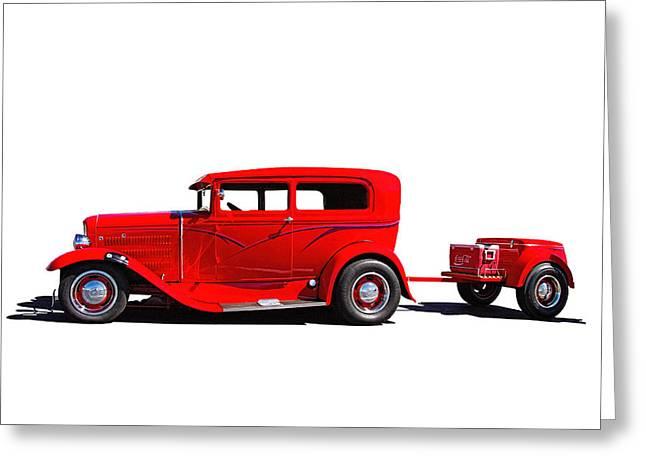 1930 Ford Sedan Greeting Card by Nick Gray