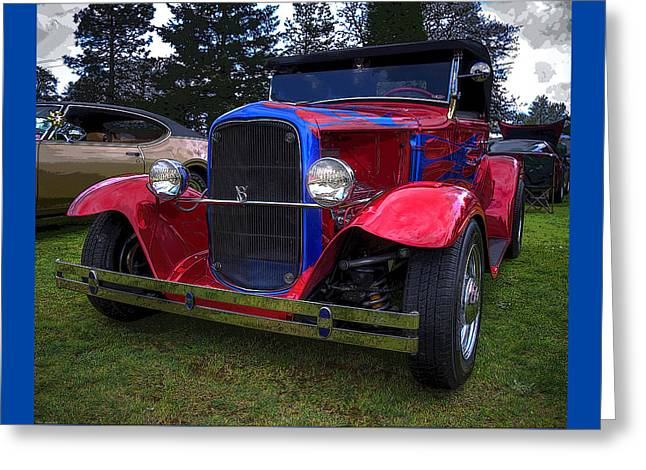 1930 Ford V8 Model A Hot Rod Greeting Card by Thom Zehrfeld