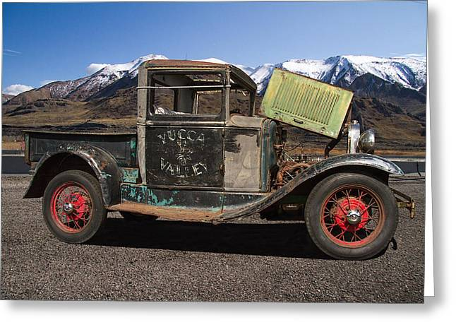 Historical Images Greeting Cards - 1930 Model A Ford Truck Greeting Card by Nick Gray
