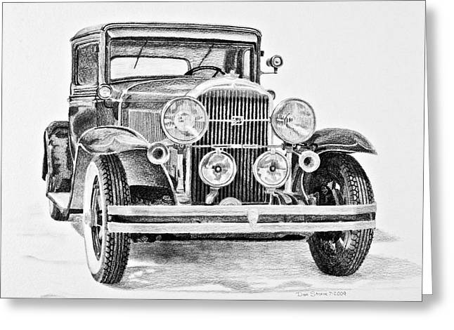 Daniel Storm Greeting Cards - 1931 Buick Greeting Card by Daniel Storm