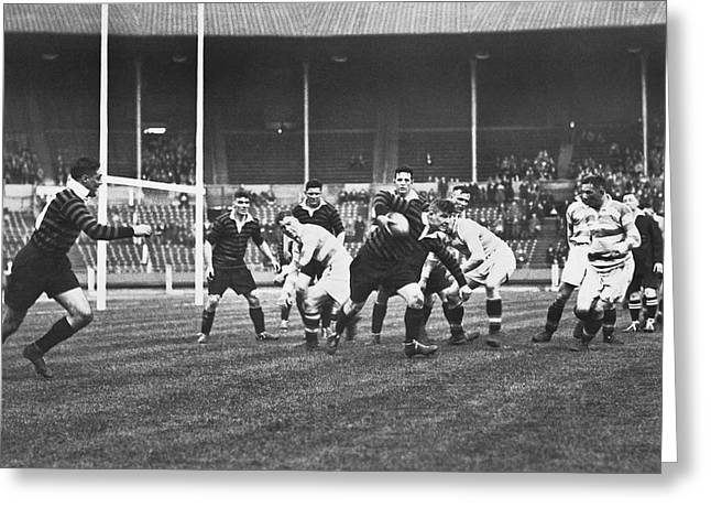 1931 Challenge Cup At Wembley Greeting Card by Underwood Archives