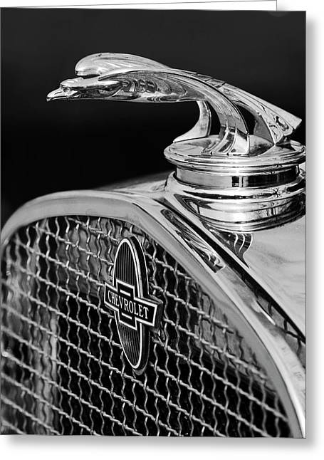 Car Mascots Greeting Cards - 1931 Chevrolet Hood Ornament 4 Greeting Card by Jill Reger