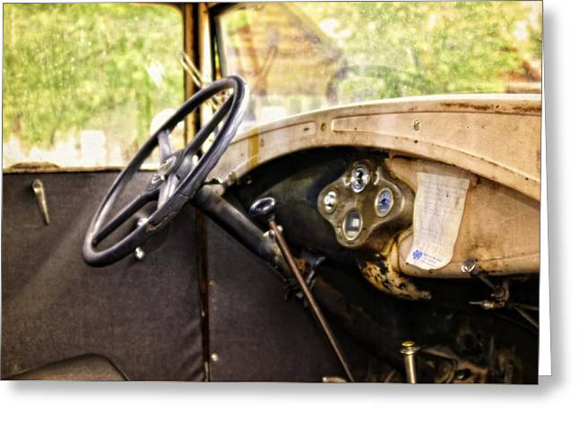 ist Photographs Greeting Cards - 1931 Gear Shift Greeting Card by Image Takers Photography LLC - Laura Morgan