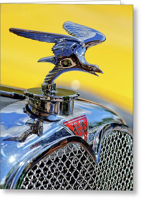 Car Mascot Greeting Cards - 1932 Alvis Hood Ornament Greeting Card by Jill Reger
