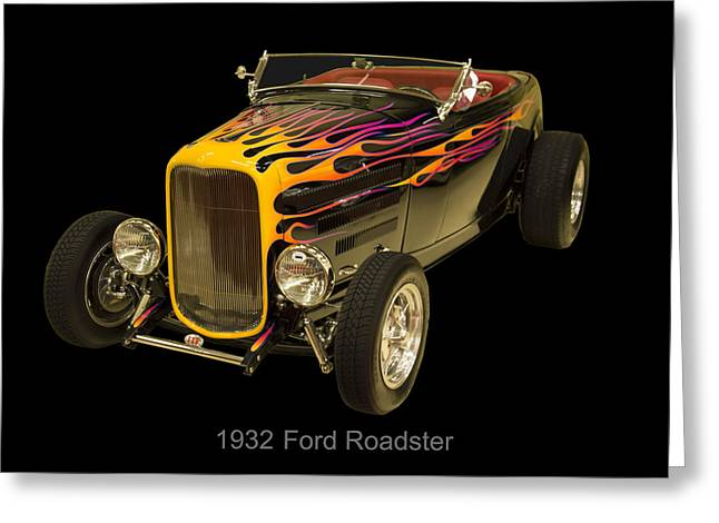 1932 Ford Greeting Cards - 1932 Ford Roadster Hot Rod Greeting Card by Chris Flees