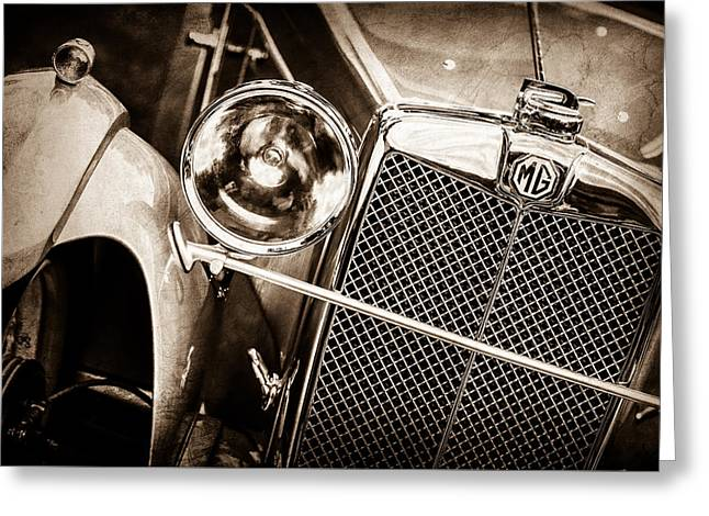1932 Mg F1 Magna Grille -1363s Greeting Card by Jill Reger