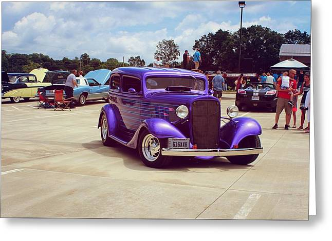 21st Greeting Cards - 1933 Chevy-4 Greeting Card by R A W M