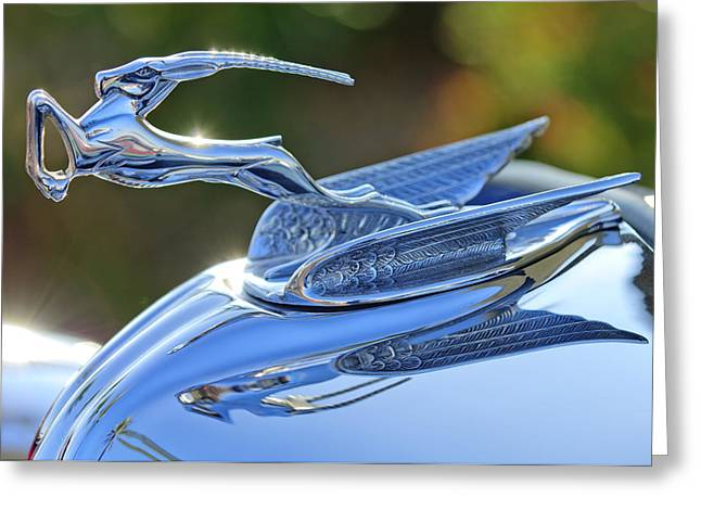 Car Mascot Greeting Cards - 1933 Chrysler Imperial Hood Ornament 2 Greeting Card by Jill Reger