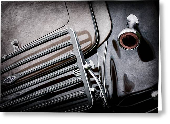 1933 Lincoln Kb Judkins Coupe Taillight Emblem -0138ac Greeting Card by Jill Reger
