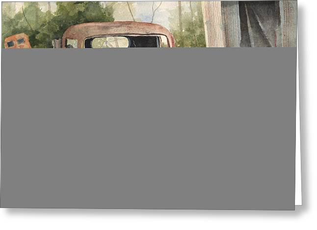 Rusted Cars Greeting Cards - 1934 Dodge Half-Ton Greeting Card by Sam Sidders