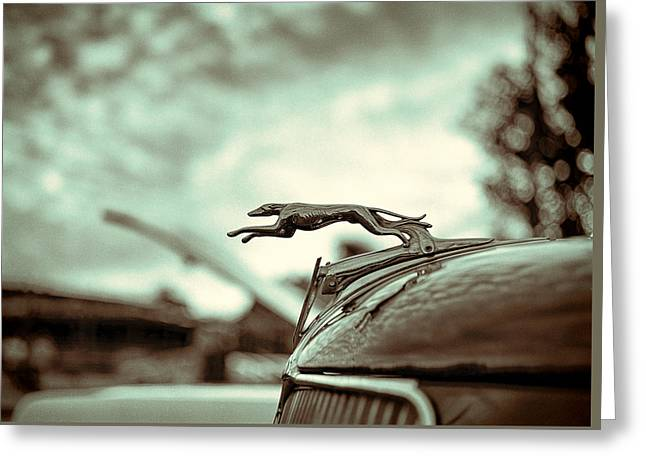 1934 Ford Hood Ornament Greeting Card by Jon Woodhams