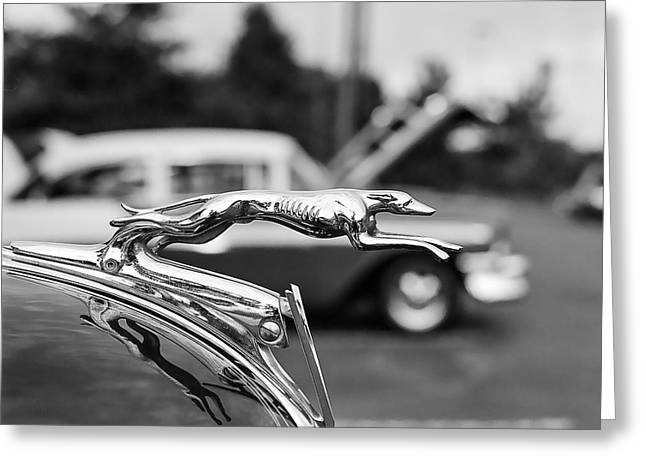 1934 Ford V8 Hood Ornament Greeting Card by Jon Woodhams