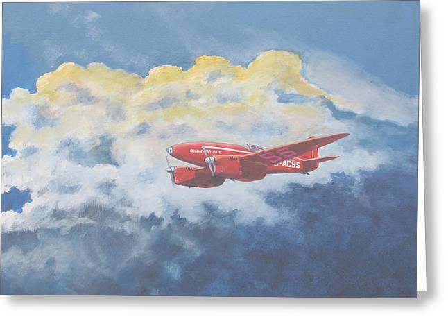 Murray Mcleod Paintings Greeting Cards - 1934 October Sunrise Greeting Card by Murray McLeod