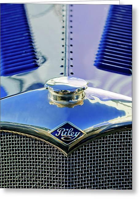 Car Mascots Greeting Cards - 1934 Riley Hood Ornament Greeting Card by Jill Reger