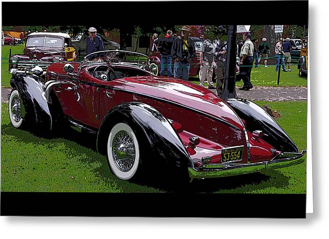 1935 Auburn Boattail Speedster Greeting Card by Thom Zehrfeld