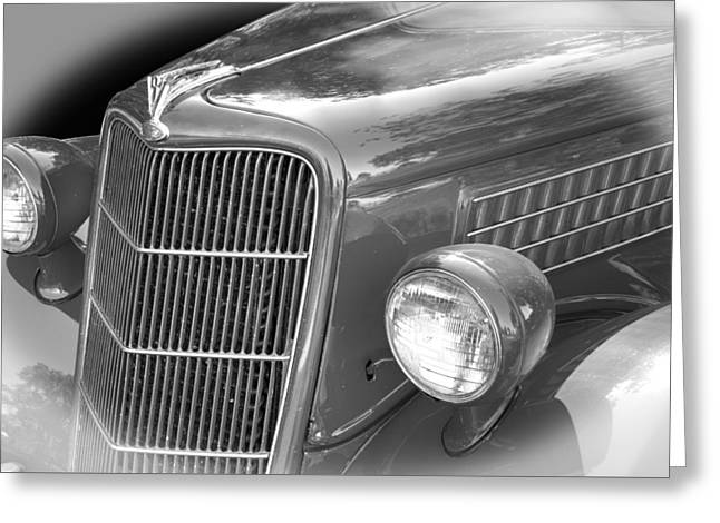 Collector Hood Ornament Greeting Cards - 1935 Ford Sedan Grill Greeting Card by Nick Gray