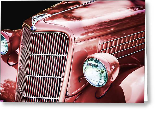 Collector Hood Ornament Greeting Cards - 1935 Ford Sedan Hood Greeting Card by Nick Gray