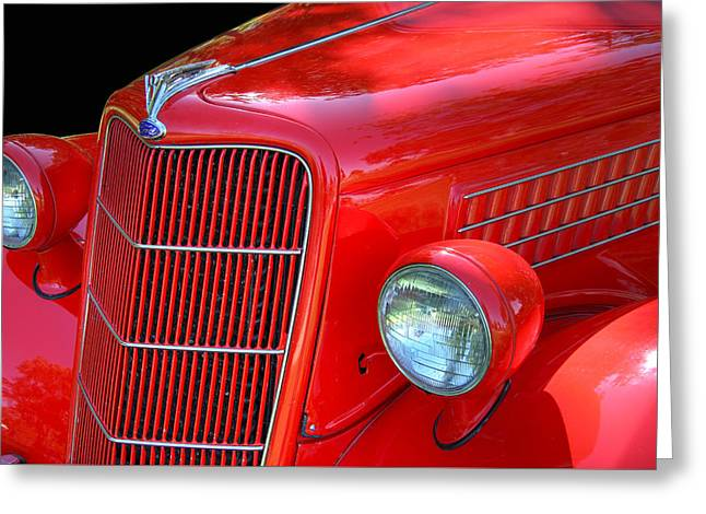 Collector Hood Ornament Greeting Cards - 1935 Ford Sedan Greeting Card by Nick Gray