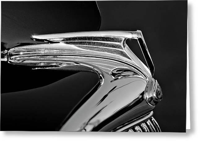 Best Stock Photos Greeting Cards - 1935 Ford V8 Hood Ornament 5 Greeting Card by Jill Reger