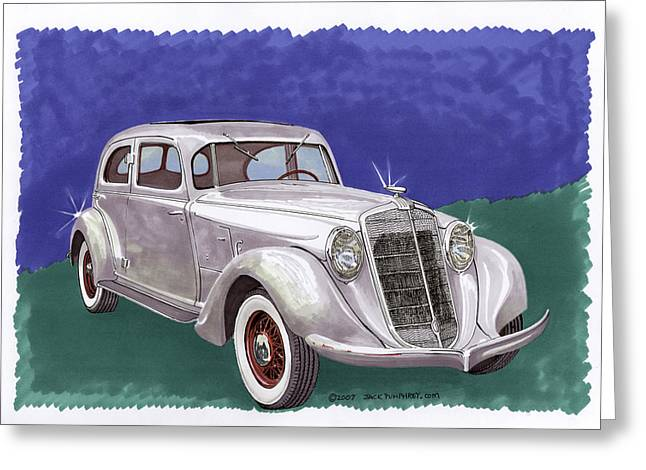 345 Greeting Cards - 1935 Hupmobile Model 527 T Greeting Card by Jack Pumphrey