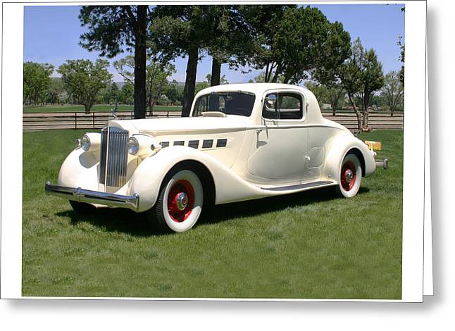 8 Mile Greeting Cards - 1935 Packard 1204 Super 8 Club Coupe Greeting Card by Jack Pumphrey