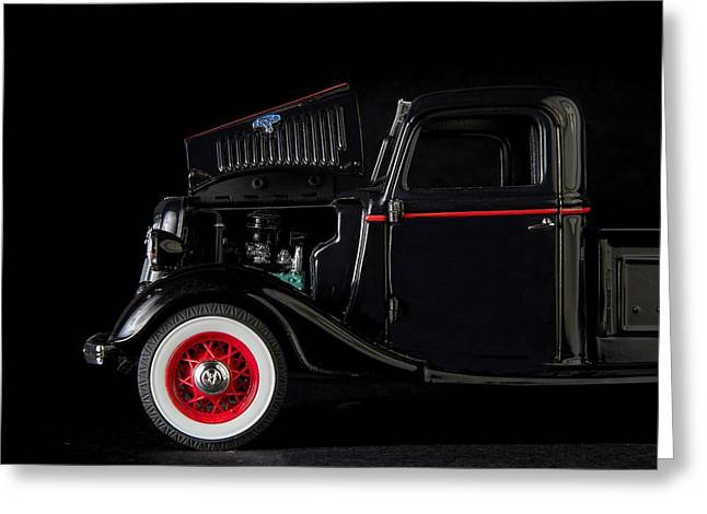 White Photographs Greeting Cards - 1935 Truck- 3 Greeting Card by Rudy Umans