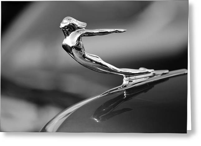Car Mascot Greeting Cards - 1936 Cadillac Hood Ornament 3 Greeting Card by Jill Reger