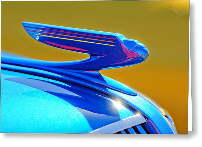 Car Mascot Greeting Cards - 1936 Chevrolet Hood Ornament Greeting Card by Jill Reger