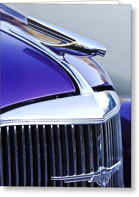 1937 Chevy Greeting Cards - 1937 Chevrolet Hood Ornament 2 Greeting Card by Jill Reger