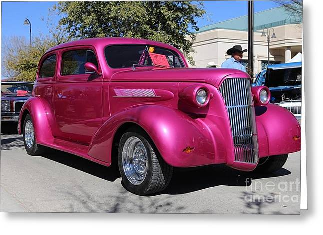 Becky Greeting Cards - 1937 Chevy Master Sedan Greeting Card by Blaine Nelson
