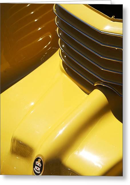 Car Part Greeting Cards - 1937 Cord 812 Phaeton Hood Ornament Greeting Card by Jill Reger