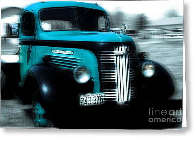Old Trucks Greeting Cards - 1937 Gmc Greeting Card by Steven  Digman