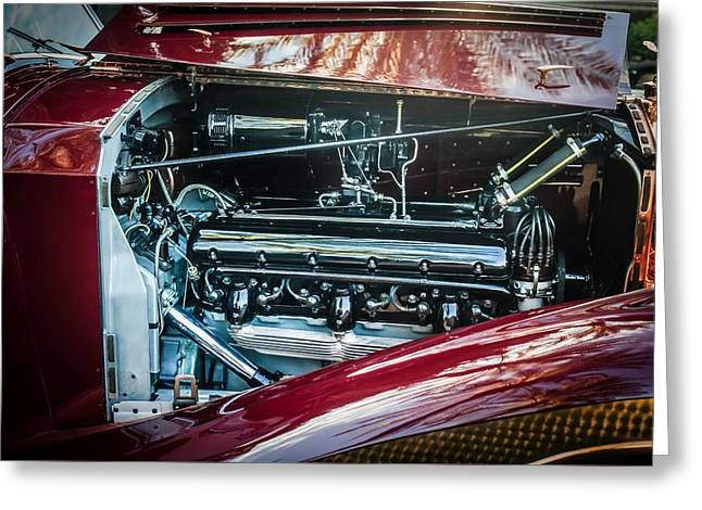 Famous Photographer Greeting Cards - 1937 Rolls-Royce Engine -0237c Greeting Card by Jill Reger