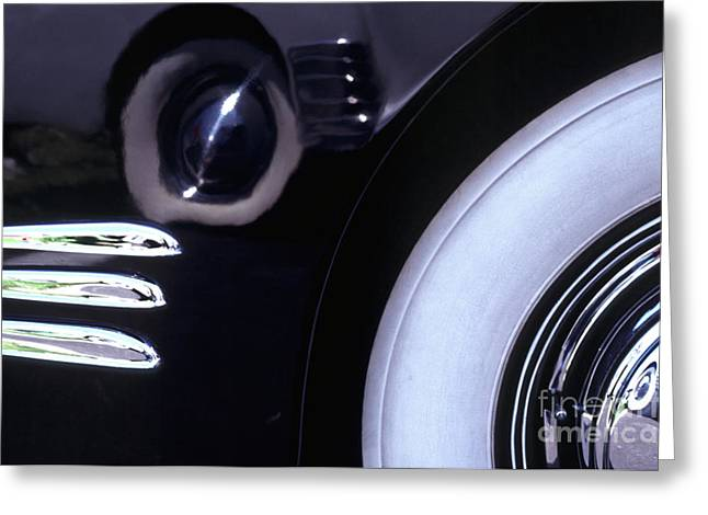 Limo Greeting Cards - 1938 Cadillac Limo Wheel Well Reflections Greeting Card by Anna Lisa Yoder