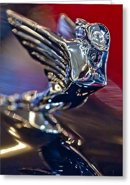 Car Mascot Greeting Cards - 1938 Cadillac V-16 Hood Ornament Greeting Card by Jill Reger