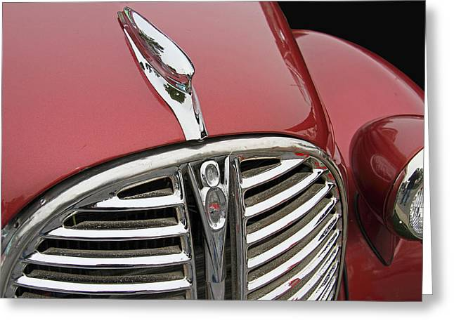 Collector Hood Ornament Greeting Cards - 1938 Ford Pickup Truck Hood Ornament Greeting Card by Nick Gray