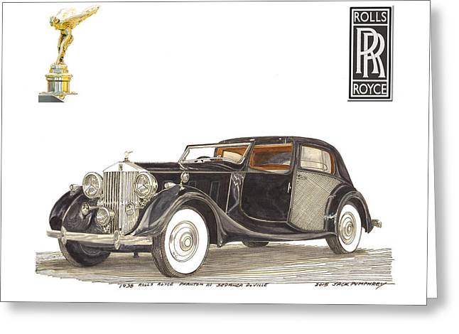 Replacing Paintings Greeting Cards - 1938 Rolls Royce Phantom I I I Sedanca DeVille Greeting Card by Jack Pumphrey