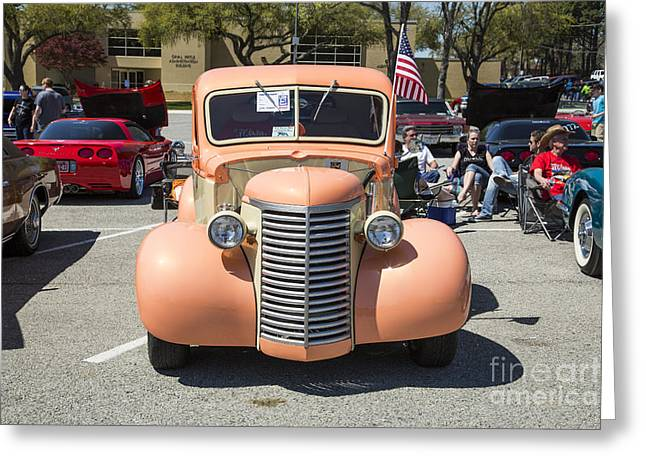 Photography Of Framed Pictures Greeting Cards - 1939 Chevrolet Pickup Antique at Car Show in Color 3518.02 Greeting Card by M K  Miller