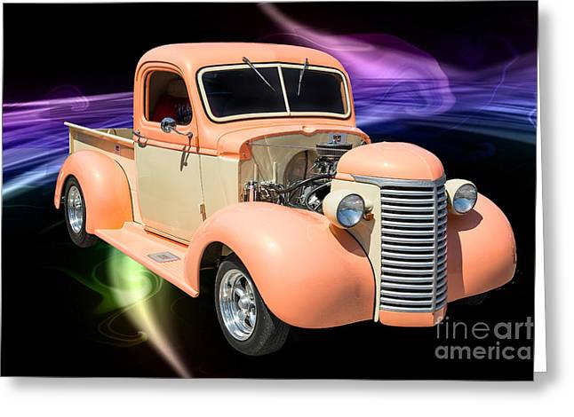 Photography Of Framed Pictures Greeting Cards - 1939 Chevrolet Pickup Antique Car in Color Showcase 3519.02 Greeting Card by M K  Miller