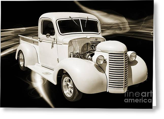 Photography Of Framed Pictures Greeting Cards - 1939 Chevrolet Pickup Antique Car in Sepia Showcase 3519.01 Greeting Card by M K  Miller