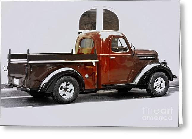 Classic Truck Greeting Cards - 1939 International Pickup Truck - Side View Greeting Card by Steven  Digman