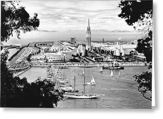 1939 Treasure Island View Greeting Card by Underwood Archives
