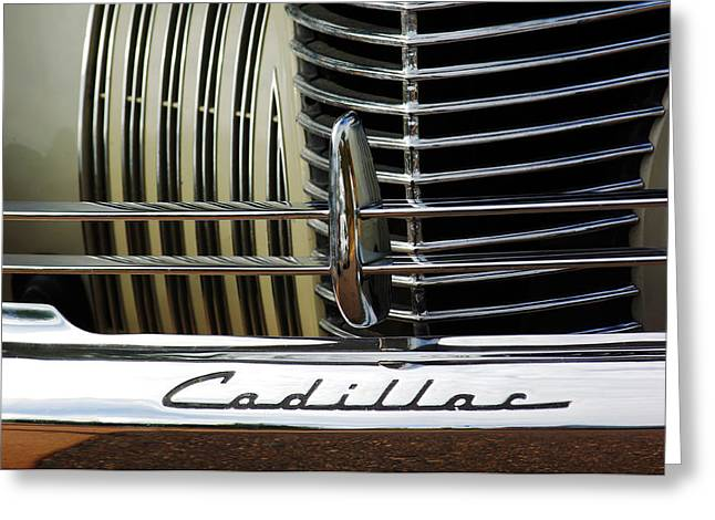 Car Part Greeting Cards - 1940 Cadillac 60 Special Sedan Grille Greeting Card by Jill Reger