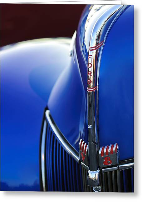 Car Mascot Greeting Cards - 1940 Ford V8 Hood Ornament 3 Greeting Card by Jill Reger