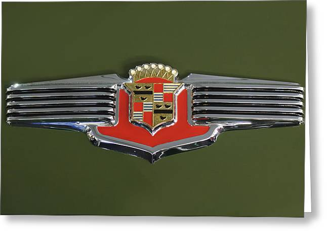 Car Mascot Greeting Cards - 1941 Cadillac 62 Emblem Greeting Card by Jill Reger