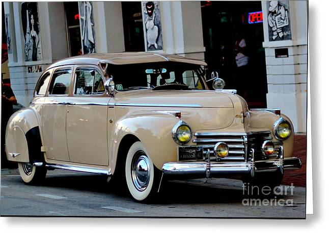 Steering Greeting Cards - 1941 Chrysler Greeting Card by Rene Triay Photography